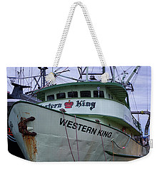 Weekender Tote Bag featuring the photograph Western King At Discovery Harbour by Randy Hall
