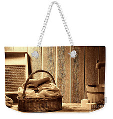 Western Laundromat   Weekender Tote Bag by American West Legend By Olivier Le Queinec