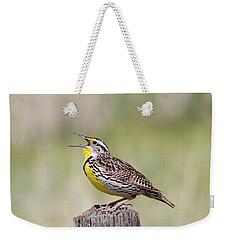 Western Meadowlark Weekender Tote Bag