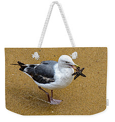 Western Seagull Carrying A Starfish Weekender Tote Bag
