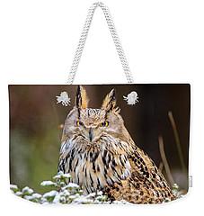 Western Siberian Owl Weekender Tote Bag