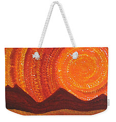Western Sky Wave Original Painting Weekender Tote Bag