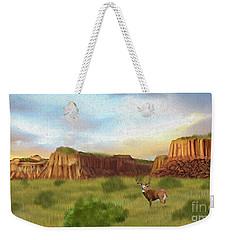 Western Whitetail Deer Weekender Tote Bag
