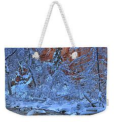 Westfork In Winter Weekender Tote Bag by Tom Kelly