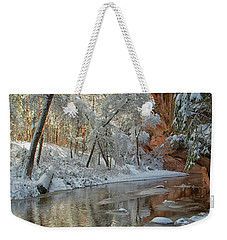 Weekender Tote Bag featuring the photograph Westfork's Beauty by Tom Kelly