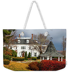 Weekender Tote Bag featuring the photograph Westglow In Autumn by Karen Wiles