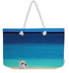 Westie White Dog On The Beach Weekender Tote Bag
