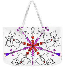 Westie Kaleidoscope Weekender Tote Bag