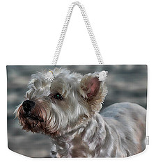 Westie Love Weekender Tote Bag by Clare Bevan