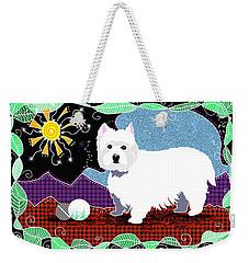 Westie Patchwork Weekender Tote Bag