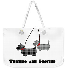 Westies Are Besties Weekender Tote Bag