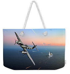 Weekender Tote Bag featuring the photograph Westland Whirlwind Attacking E-boats by Gary Eason