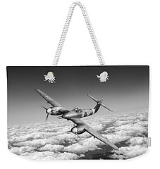 Weekender Tote Bag featuring the photograph Westland Whirlwind Portrait Black And White Version by Gary Eason