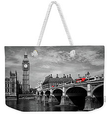 Westminster Bridge And Big Ben London Weekender Tote Bag by Lynn Bolt