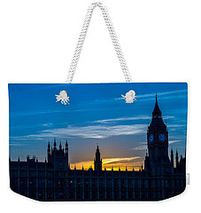 Westminster Parlament In London Golden Hour Weekender Tote Bag