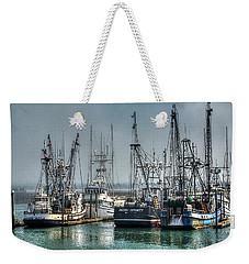 Westport Fishing Fleet - Washington Coast Weekender Tote Bag by Greg Sigrist