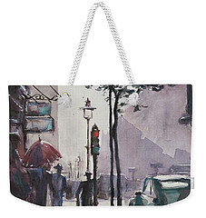 Wet Afternoon Weekender Tote Bag by Geni Gorani
