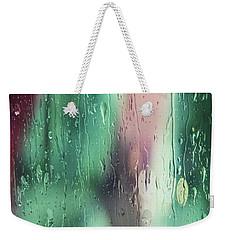 Wet Aqua Weekender Tote Bag by Allen Beilschmidt