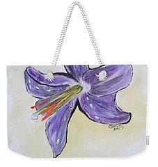 Wet Flower Weekender Tote Bag