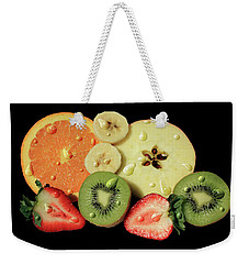 Weekender Tote Bag featuring the photograph Wet Fruit by Shane Bechler
