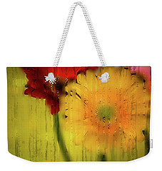 Wet Glass Flowers Weekender Tote Bag