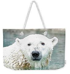 Wet Polar Bear Weekender Tote Bag