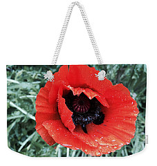Wet Poppy Weekender Tote Bag