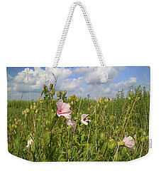 Weekender Tote Bag featuring the photograph Wet Prairie by Scott Kingery