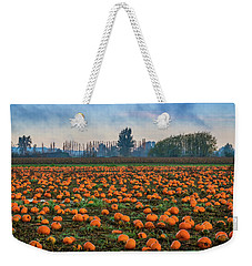 Wet Pumpkin Patch Weekender Tote Bag