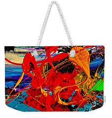 Wet Sunset Weekender Tote Bag