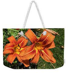 Wet Tiger Llilies Weekender Tote Bag
