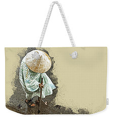 Wet Walk Home Weekender Tote Bag