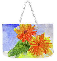 Wet Zinnias Weekender Tote Bag