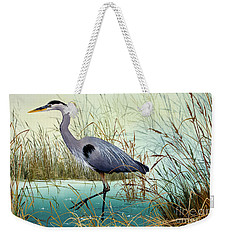 Weekender Tote Bag featuring the painting Wetland Beauty by James Williamson