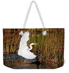 Wetland Landing Weekender Tote Bag by Ray Congrove