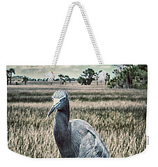 Weekender Tote Bag featuring the photograph Wetland Resident by Judy Hall-Folde
