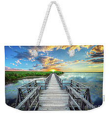 Wetland Marsh Sunrise Treasure Coast Florida Boardwalk A1 Weekender Tote Bag
