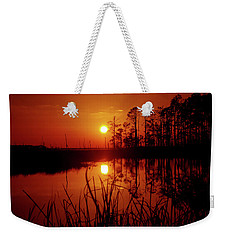 Weekender Tote Bag featuring the photograph Wetland Sunset by Robert Geary