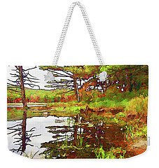 Weekender Tote Bag featuring the photograph Wetland Transition by Betsy Zimmerli