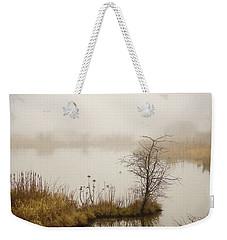 Weekender Tote Bag featuring the painting Wetland Wonders Of Winter by Jordan Blackstone