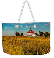 Weekender Tote Bag featuring the photograph Wetlands At East Point Light by Nick Zelinsky
