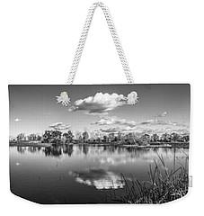 Wetlands Panorama Monochrome Weekender Tote Bag