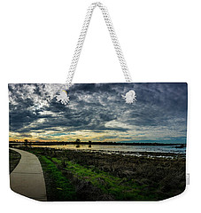 Wetlands Sunset Panorama Weekender Tote Bag