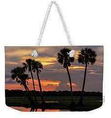 Wetlands Sunset Weekender Tote Bag
