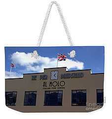 Weekender Tote Bag featuring the photograph Weymouth Art Deco Pier  by Baggieoldboy