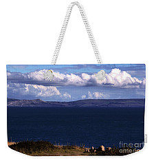Weekender Tote Bag featuring the photograph Weymouth Bay by Baggieoldboy