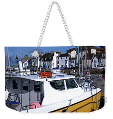 Weekender Tote Bag featuring the photograph Weymouth Harbour by Baggieoldboy