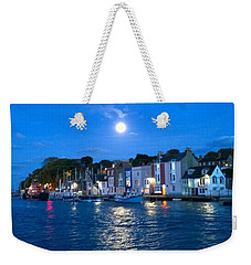 Weymouth Harbour, Full Moon Weekender Tote Bag