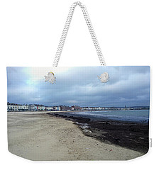 Weekender Tote Bag featuring the photograph Weymouth Sands by Anne Kotan