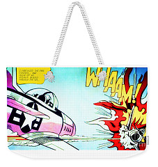 Whaam - Roy Lichtenstein  Weekender Tote Bag
